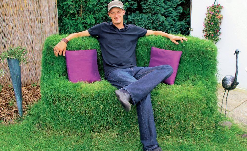 Gemutliche Rasenbank Selber Bauen Rasen Selber Bauen Ziergarten