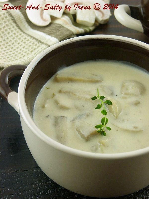 sweet-and-salty: Krem čorba od pečuraka / Creamy Mushroom Soup