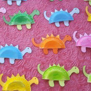 Pappteller Tiere Bastelidee für Kinder #animalcrafts