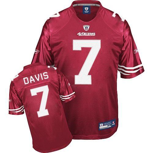 dfbeae77c Nate Davis #7 Premier EQT San Francisco 49ers Red Reebok NFL Jersey ...