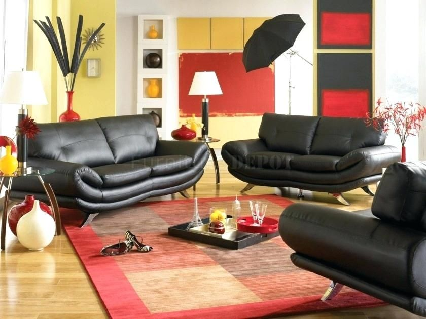Black White Red Living Room Decor Modern Decor Living Room Design With Yellow W Red Living Room Decor Black Sofa Living Room Decor Living Room Furniture Chairs #red #black #and #grey #living #room #ideas