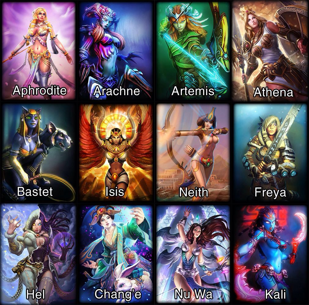 Goddesses In Smite  Sexy And Beautiful Female Characters -8607