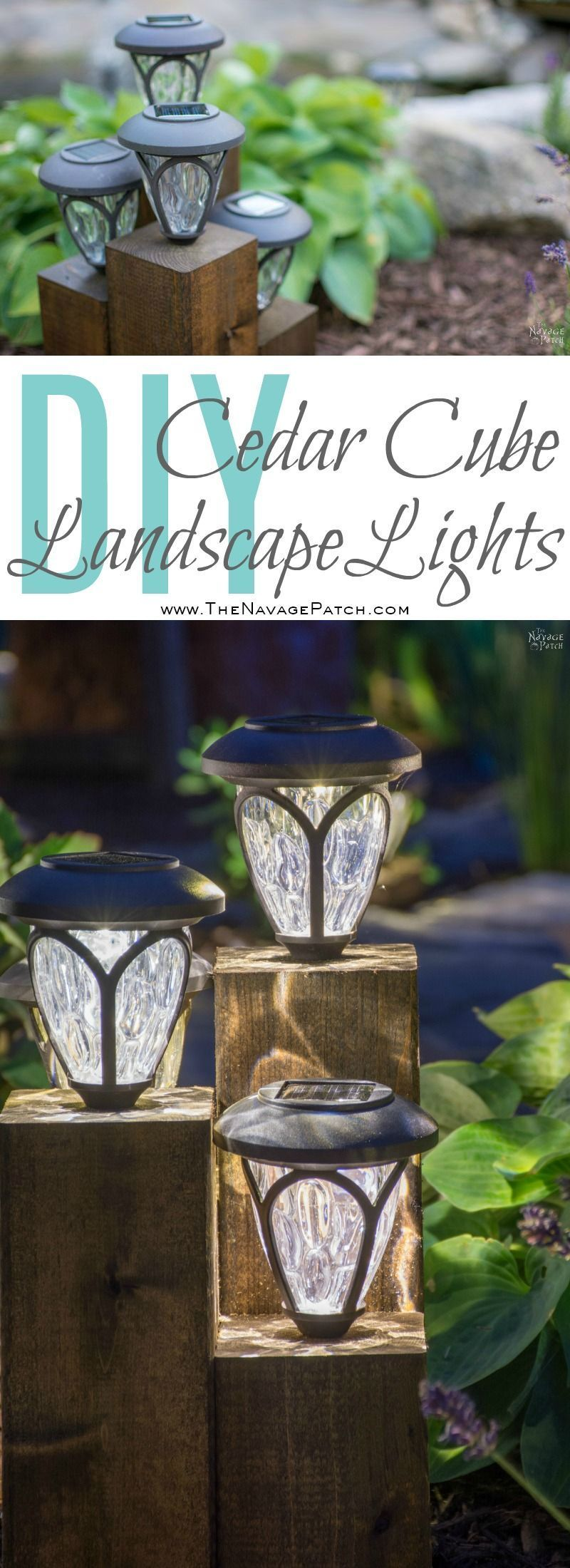 diy cedar cube landscape lights diy solar outdoor lights how to clean a solar panel how to make nonworking the solar lights work again simple woodworking