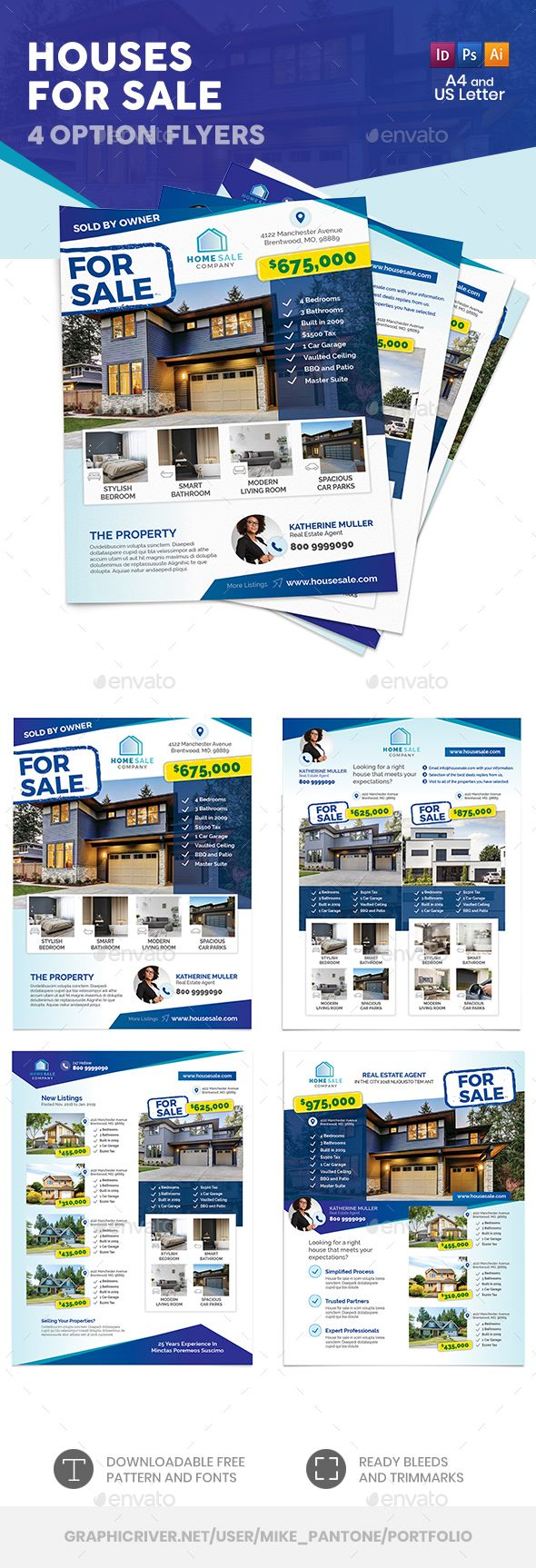 houses for sale flyer templates psd vector eps indesign indd ai