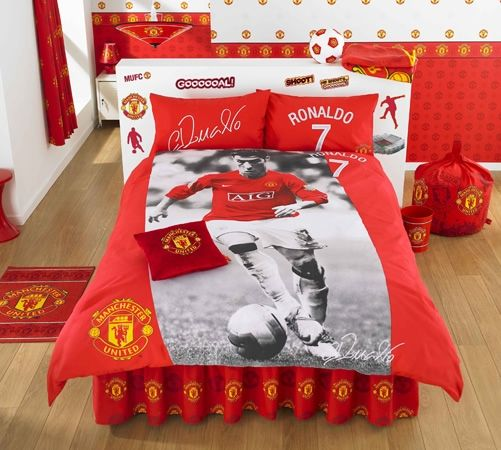 ronaldo parure de lit housse de couette football lit. Black Bedroom Furniture Sets. Home Design Ideas