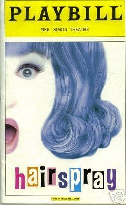 Hairspray Broadway Playbill Bruce Vinalch Carly Jibson Broadway Playbills Hairspray Musical Musicals