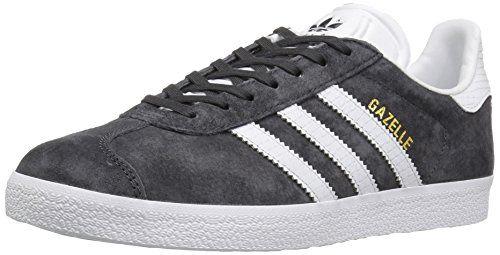 buy online 2dff9 eb619 adidas Originals Women s Gazelle W Fashion Sneaker, Utility Black White Gold  Metallic, 7