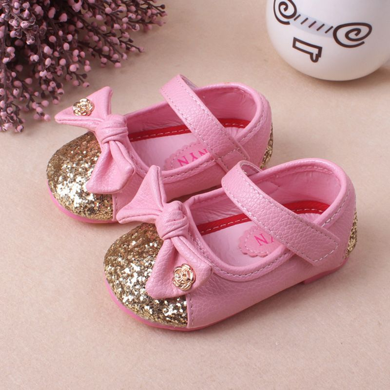 fec6bc5233b6 Click to Buy    1 to 3 years old Spring new girl Leather shoes non ...