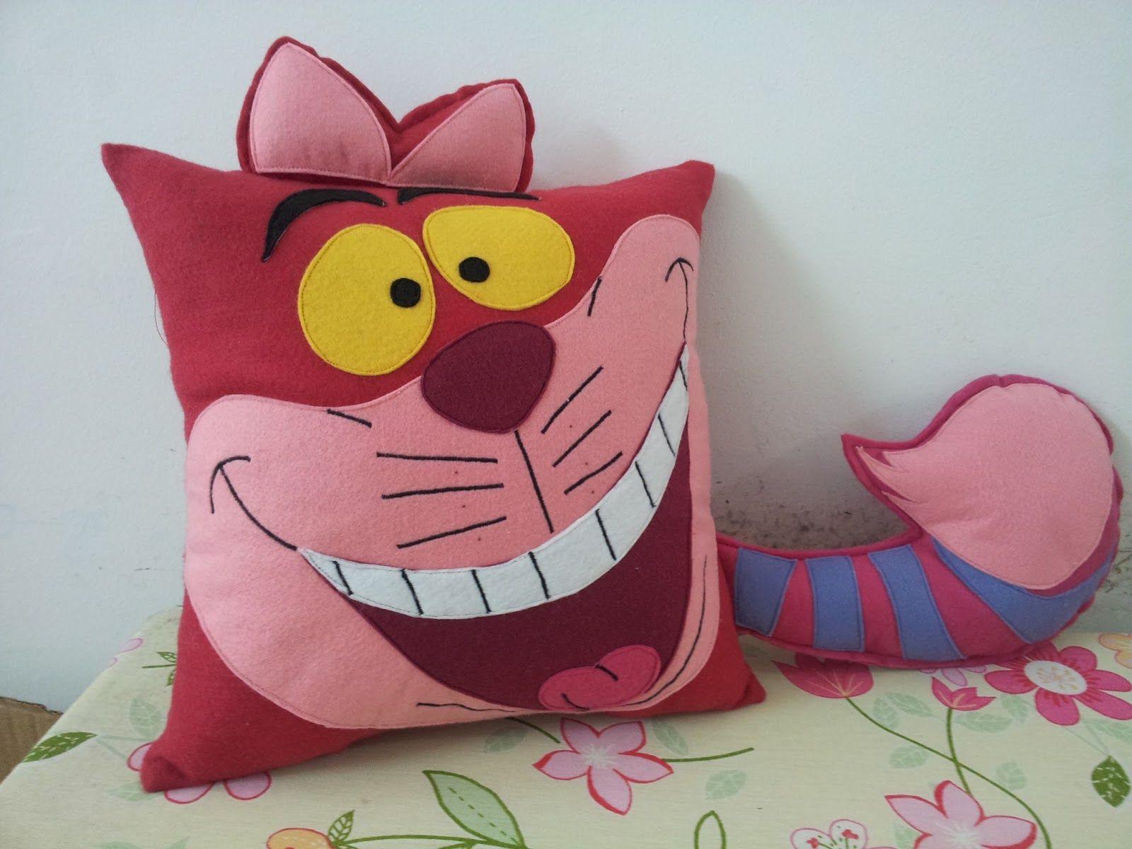 Almofada Do Cheshire Cat Versao Disney Da Alice No Pais Das