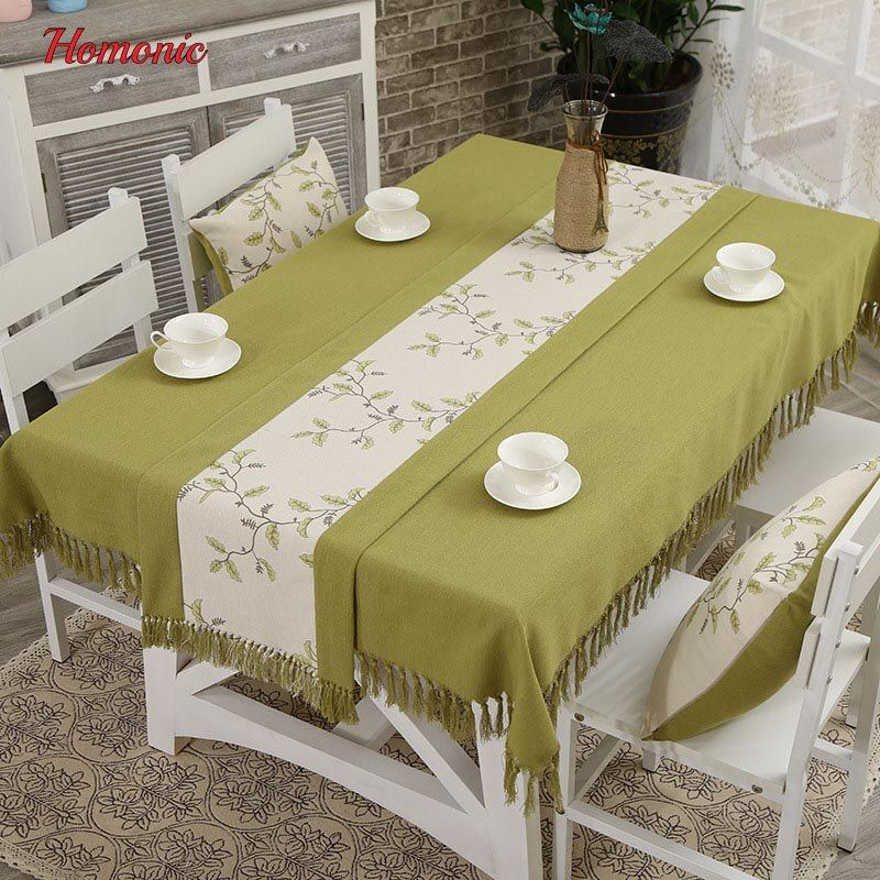 Online Shop Tassel Linen Tablecloth High Quality Japan Style Embroidery Cotton Linen Dinner Table Cloth For R Dining Table Cloth Table Cloth Cloth Table Covers