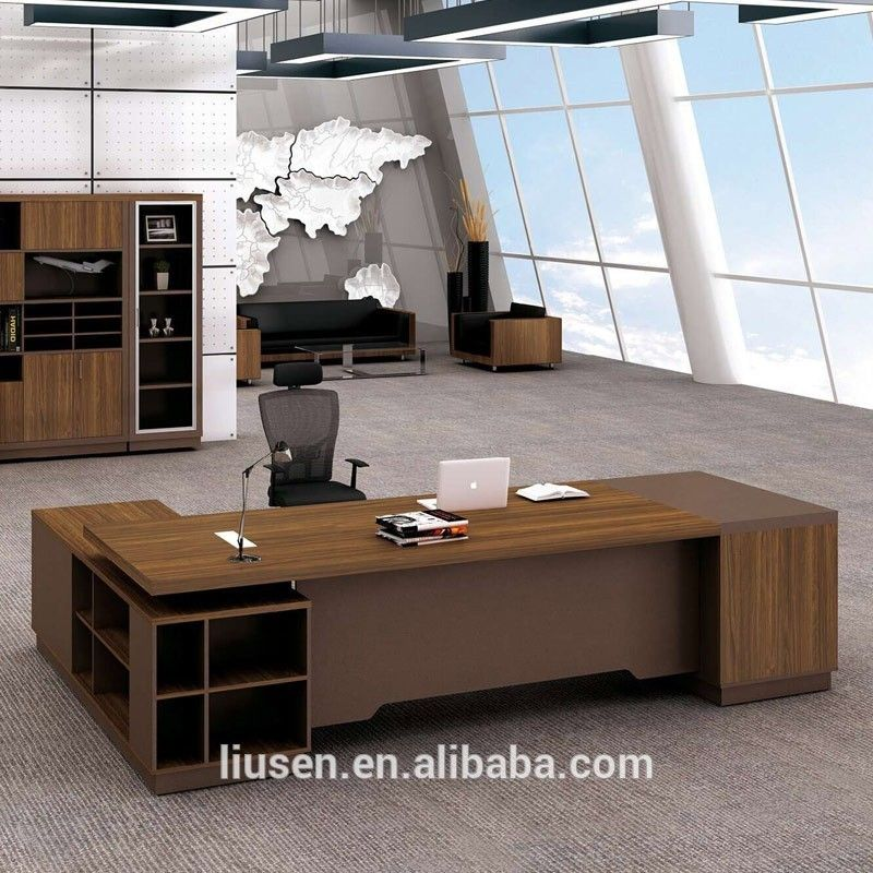 High Evaluation Durable Office Furniture Executive Clic Wood Boss Desk