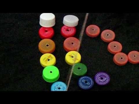 Episodio 582- Cómo hacer un gusanito con tapas recicladas - manualidadesconninos - YouTube