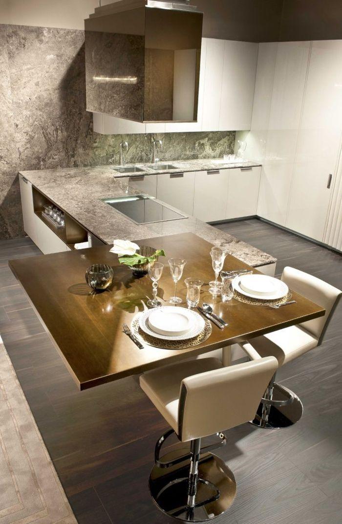 Einrichtungsideen küche modern  einrichtungsideen kueche modern wohnen esstisch kücheninsel | Deko ...