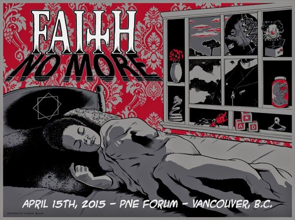 Faith No More Vancouver Poster By Mick Gray Sinclair Klugarsh World Premiere Rock Poster Art Concert Poster Art Music Artwork