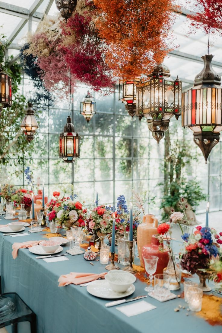 A Colorful Moroccan Wedding That Brings The Destination To You #colorfulwedding #moroccanwedding #weddingideas #weddingchicks #weddingreception #coloredbabysbreath
