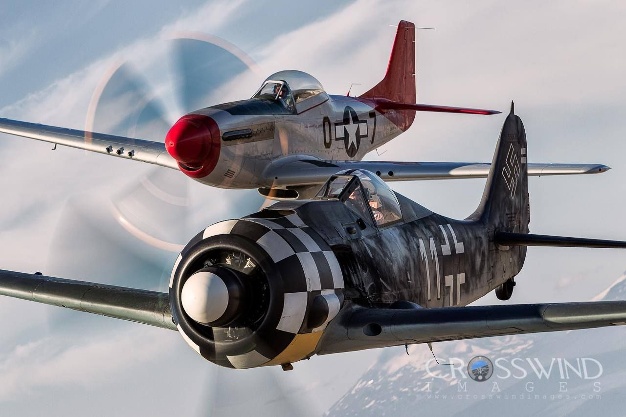 FW 190 (front) with P-51 Mustang.