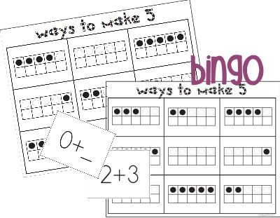 Making 5 Addition Bingo Game {Printable