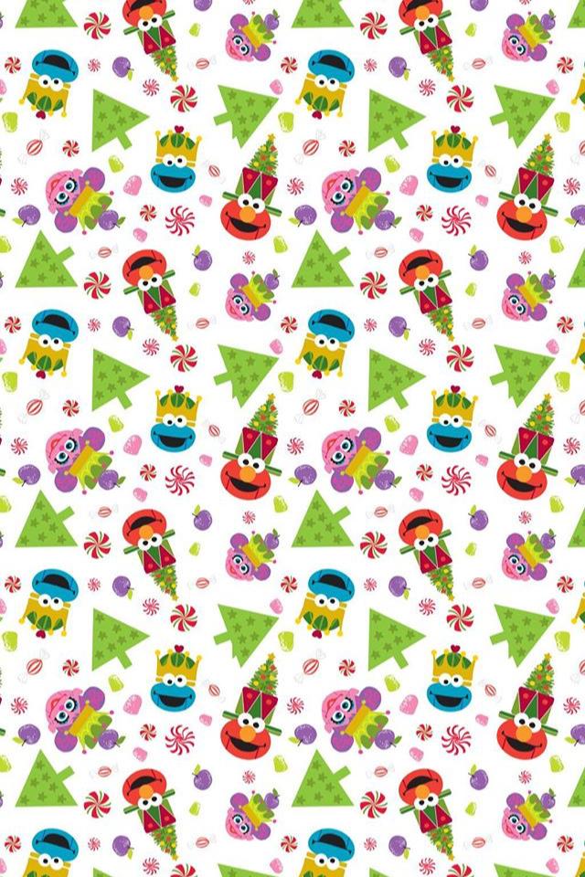 Sesame Street Plaza Sesamo Wallpaper Cookie Monster Elmo Merry Christmas Sesame Street Christmas Christmas Wallpaper Sesame Street
