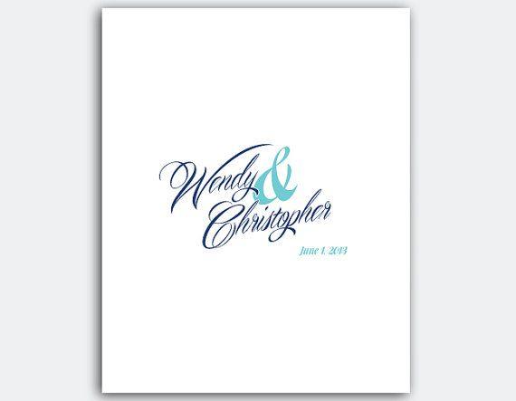 Custom Wedding Guestbook Poster  DIY by ForeverAfterPrints on Etsy