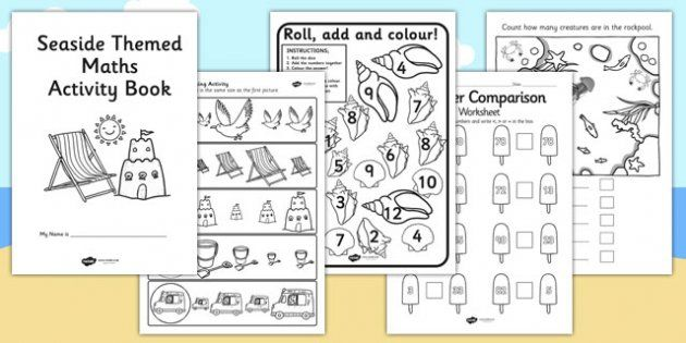 Seaside Themed KS1 Maths Activity Book - sea side, numeracy ...