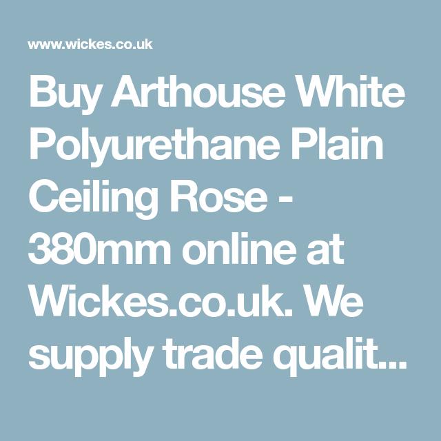 Arthouse White Polyurethane Plain Ceiling Rose 380mm In