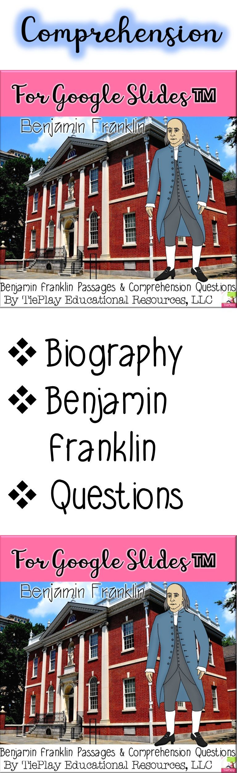 For Google Slides Ben Franklin Passages Comprehension Distance Learning Teaching Fun Distance Learning Language Arts Centers [ 2496 x 768 Pixel ]