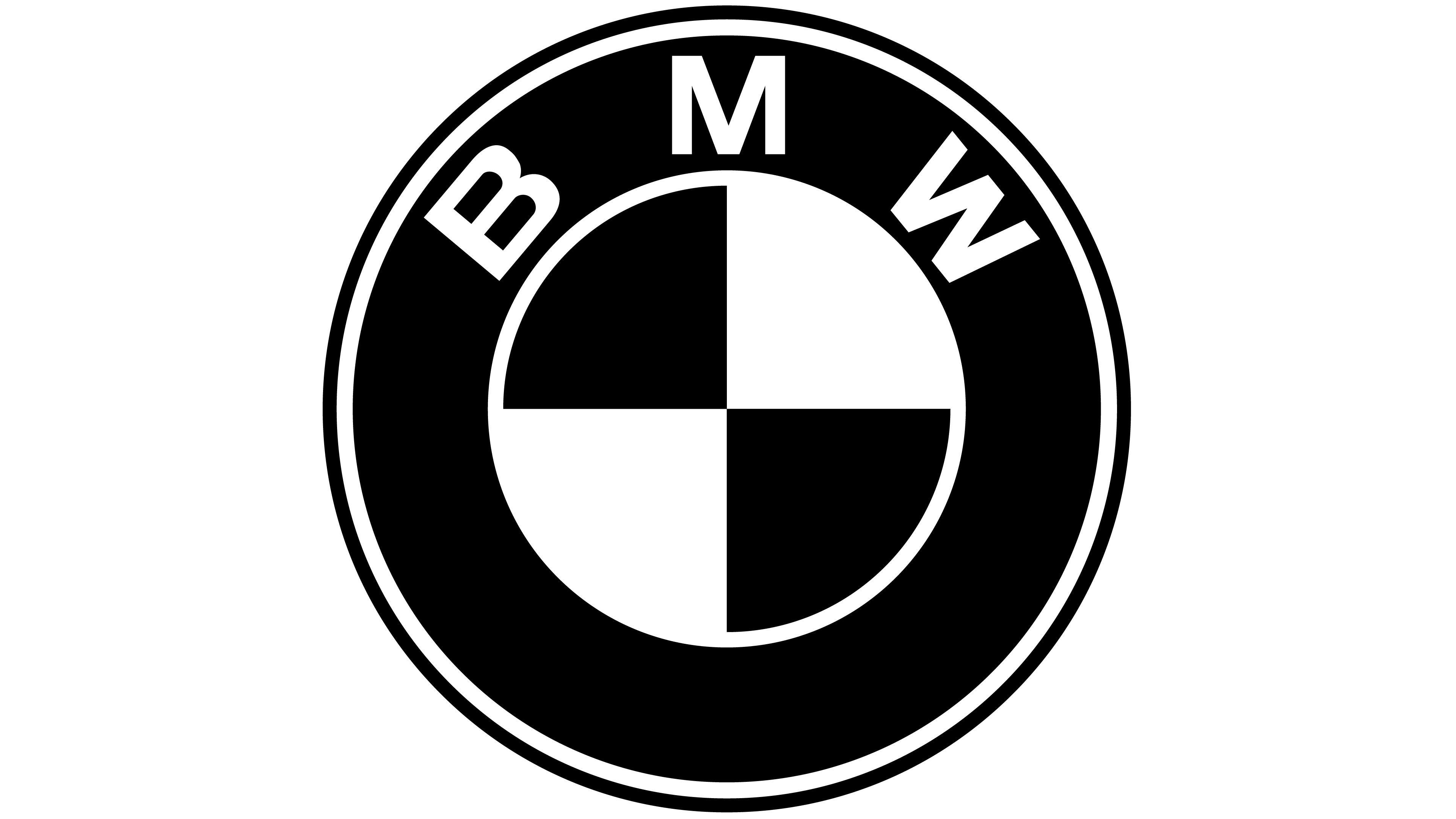 Bmw emblem schwarz Vinilo
