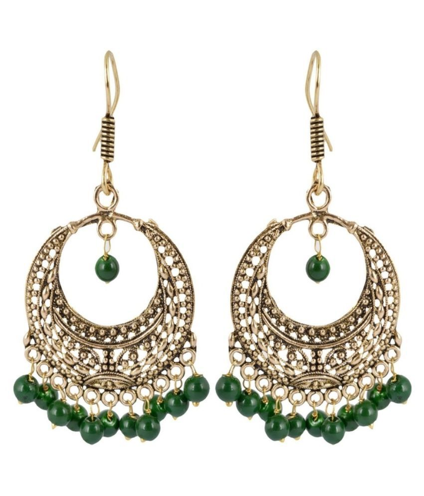 Waama Jewels Br Studded Gold Coloured Earrings