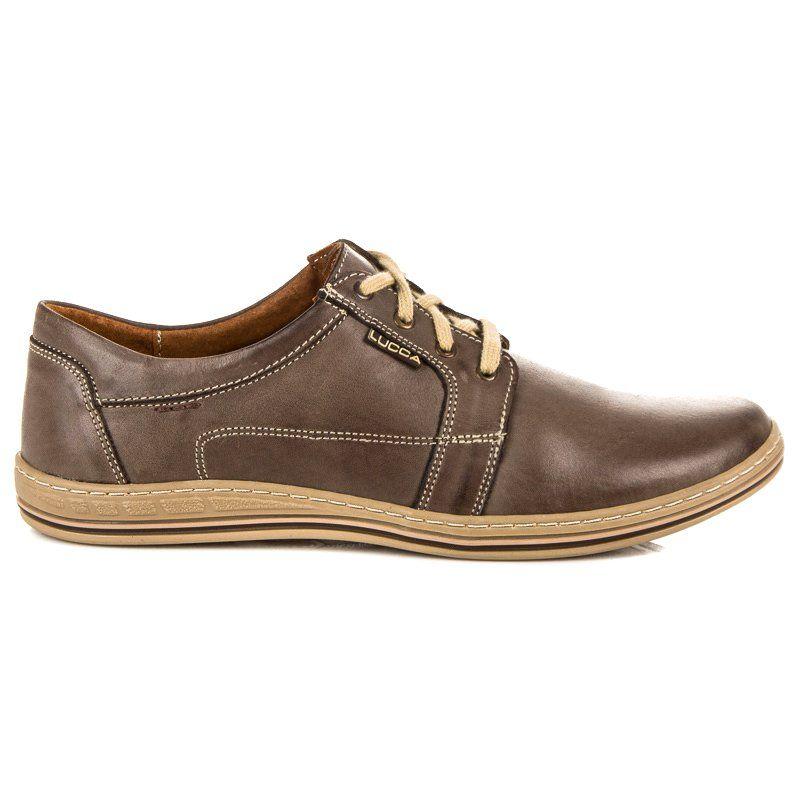 Wiazane Polbuty Casual Lucca Brazowe Dress Shoes Men Oxford Shoes Shoes