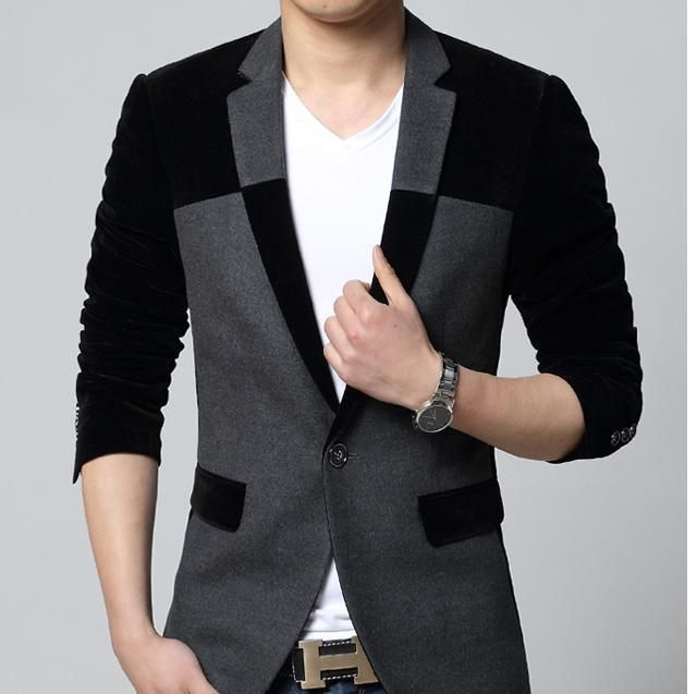 Free Shipping 2014New pattern mens blazers,men cotton suits,slim ...