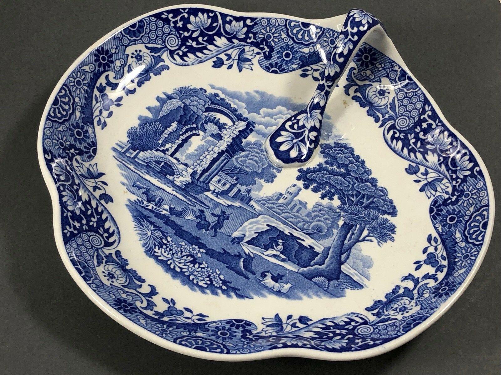 Spode England Porcelain Blue Italian Handled Tray Bowl Serving Plate C.1816   eBay   Serving ...