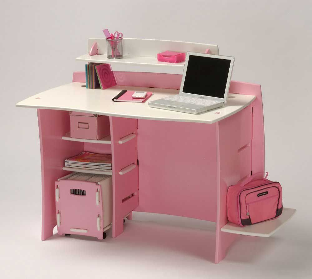 Pink Office Desk. No Tools Assembly   Desk, Pink And White Office Desk  Pinterest