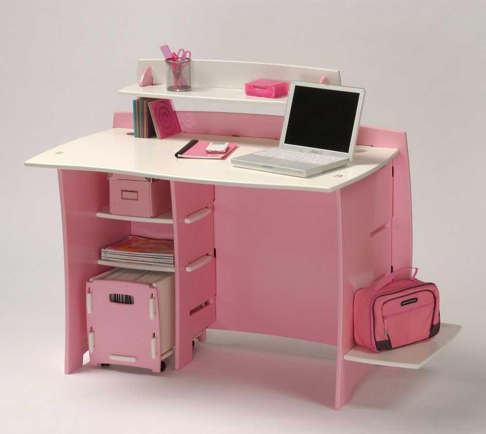 All in pink! | Office Works | Pinterest | Desk shelves, Pink desk ...