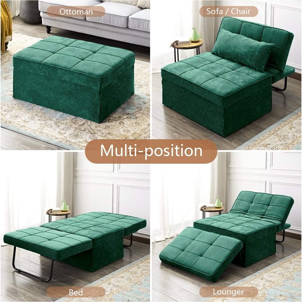 Amazon.com Vonanda Ottoman Folding Chair Bed, Modern ...