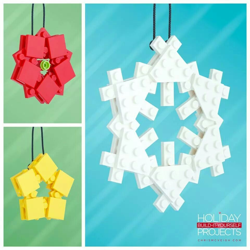 Decorate your christmas tree with these lego ornaments you can