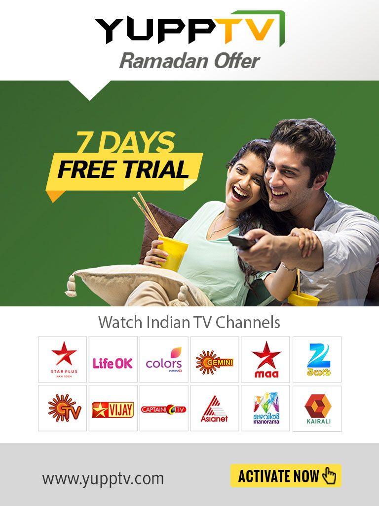 YuppTV Ramadan Offer - Watch Indian TV live & catch-up in Saudi