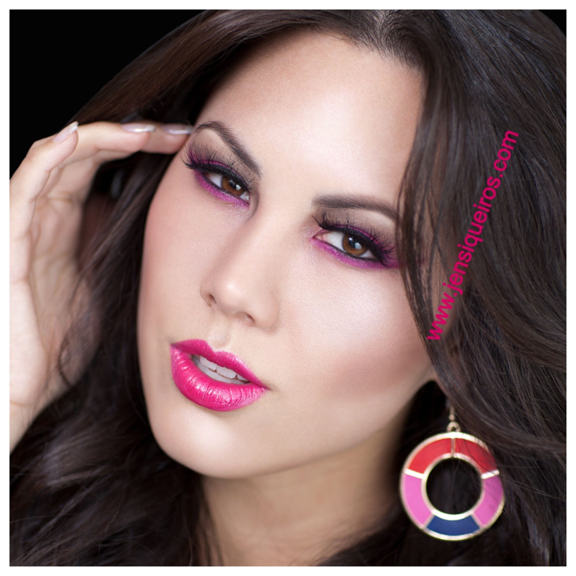 Hot Pink Lips Color Make Up For Ever Pigment On The