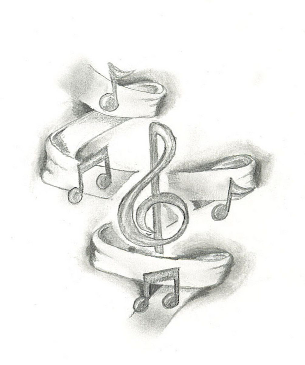 This music tattoo design is the first sketch of what's ...