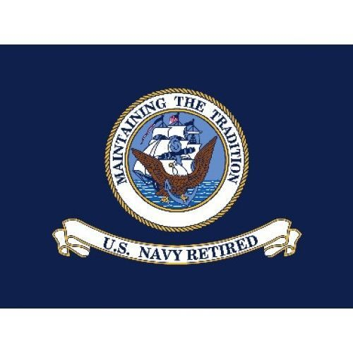 Retired Navy Glo Traditional Flag