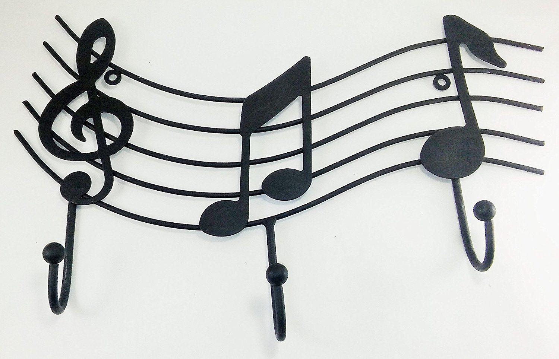 Aunt Chris' Products - Metal Music Emblem with 3-Hooks - Matte ...
