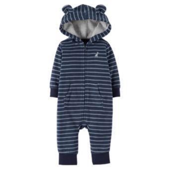Carter's Animal Hooded Microfleece Coverall - Baby