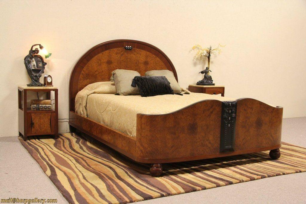 italian art deco 1925 bedroom set queen size bed 2 nightstands rh pinterest com 1925 bedroom Storage for Slanted Attic Bedroom