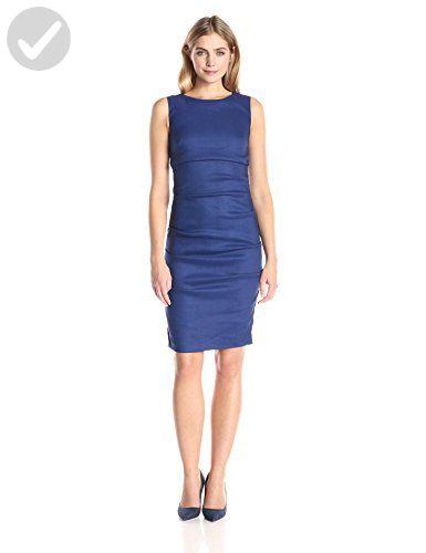 eeb8ad986d Nicole Miller Women s Lauren Stretch Linen Dress