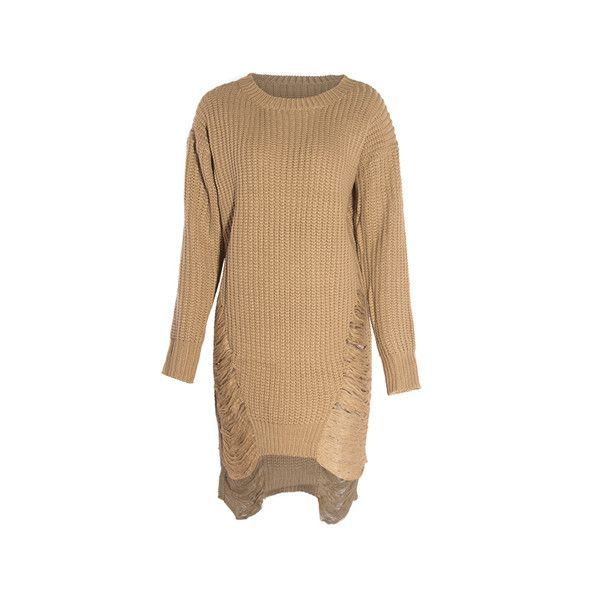 New Arrival European Knit Women Pullovers O-neck Long Sleeve SpringFashion Casual Sweater Dresses