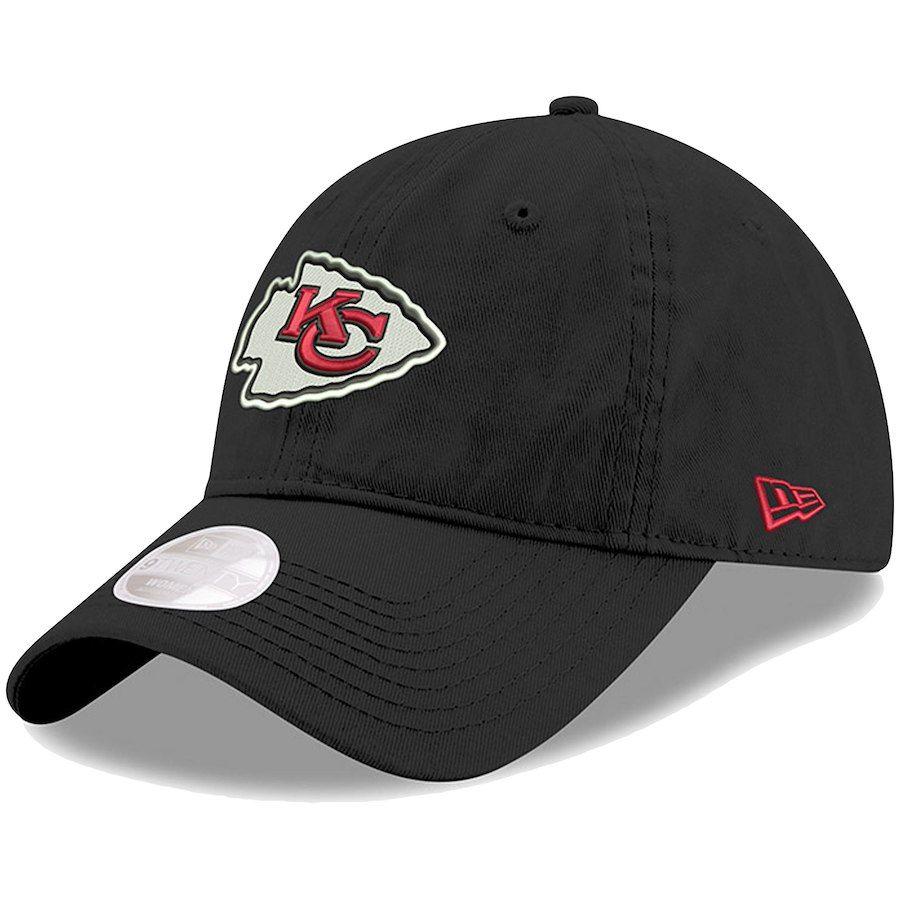 Women s Kansas City Chiefs New Era Black Preferred Pick Secondary 9TWENTY  Adjustable Hat 07a491ab7845