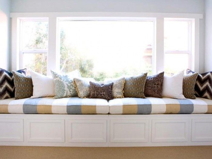 Superieur Contemporary Bedrooms From Erinn Valencich On HGTV A Long Window Bench Gets  A Pop Of Pattern With This Eclectic Mix Of Pillows.