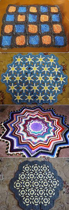 вязание из мусорных пакетов коврики рисунки вязания Tapetes