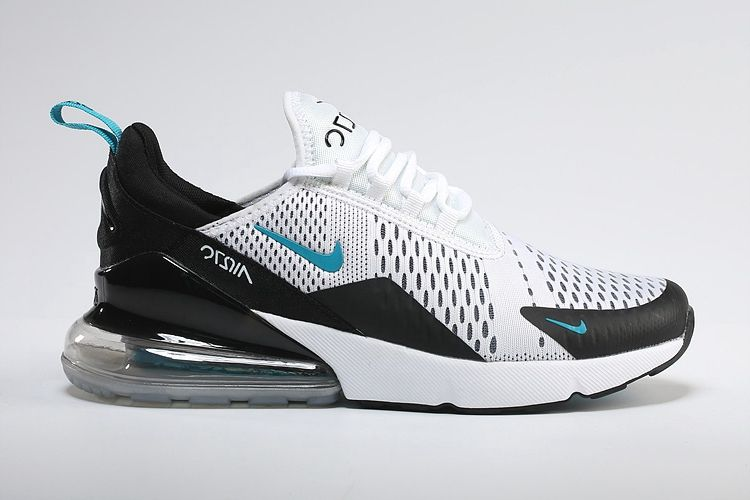 63983ed547e093 Men s Women s Nike Air Max 270 Flyknit Shoes White Black Blue UK Trainers  Sale