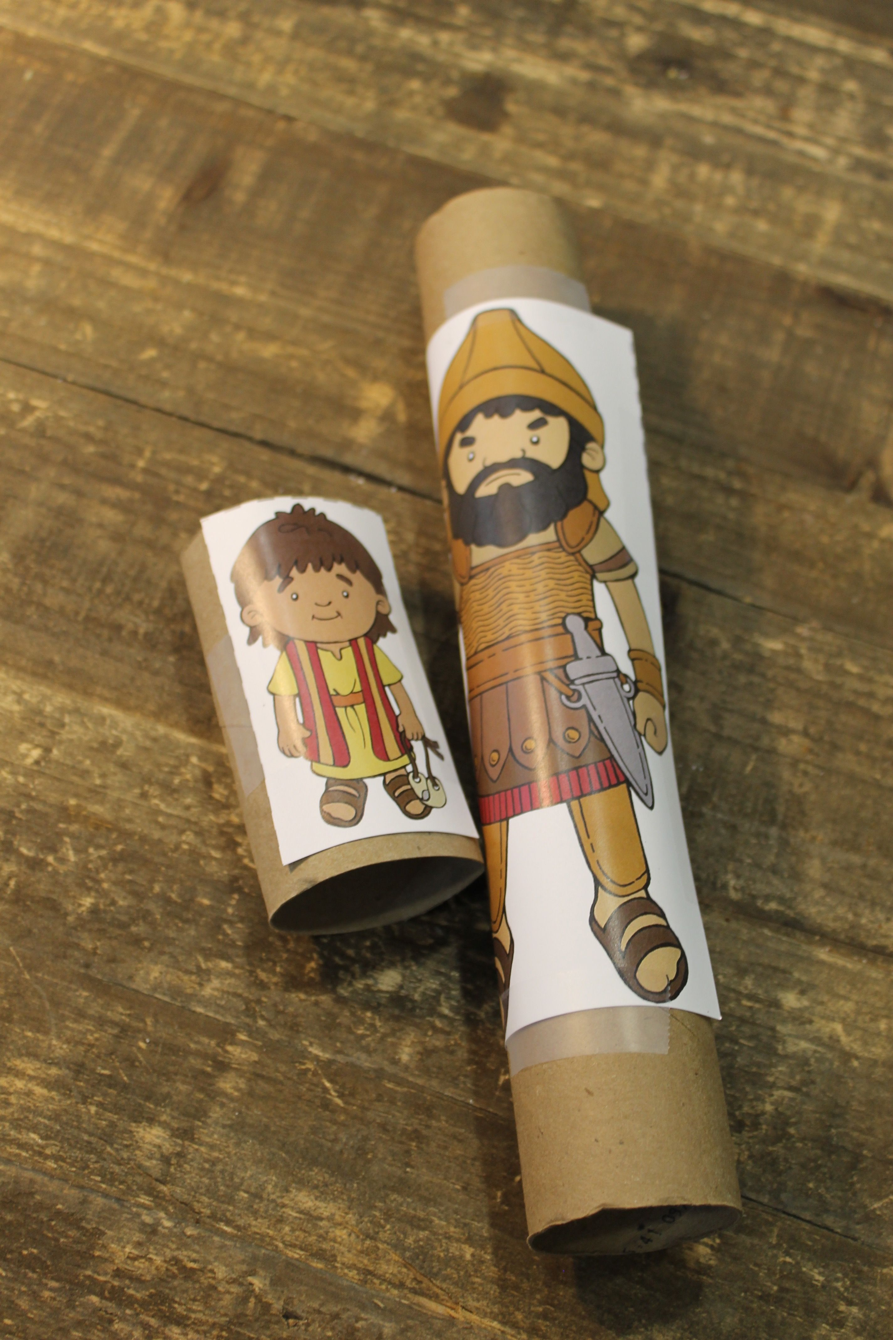 """Sample craft for June, 2s, Week 4, """"David and Goliath ..."""