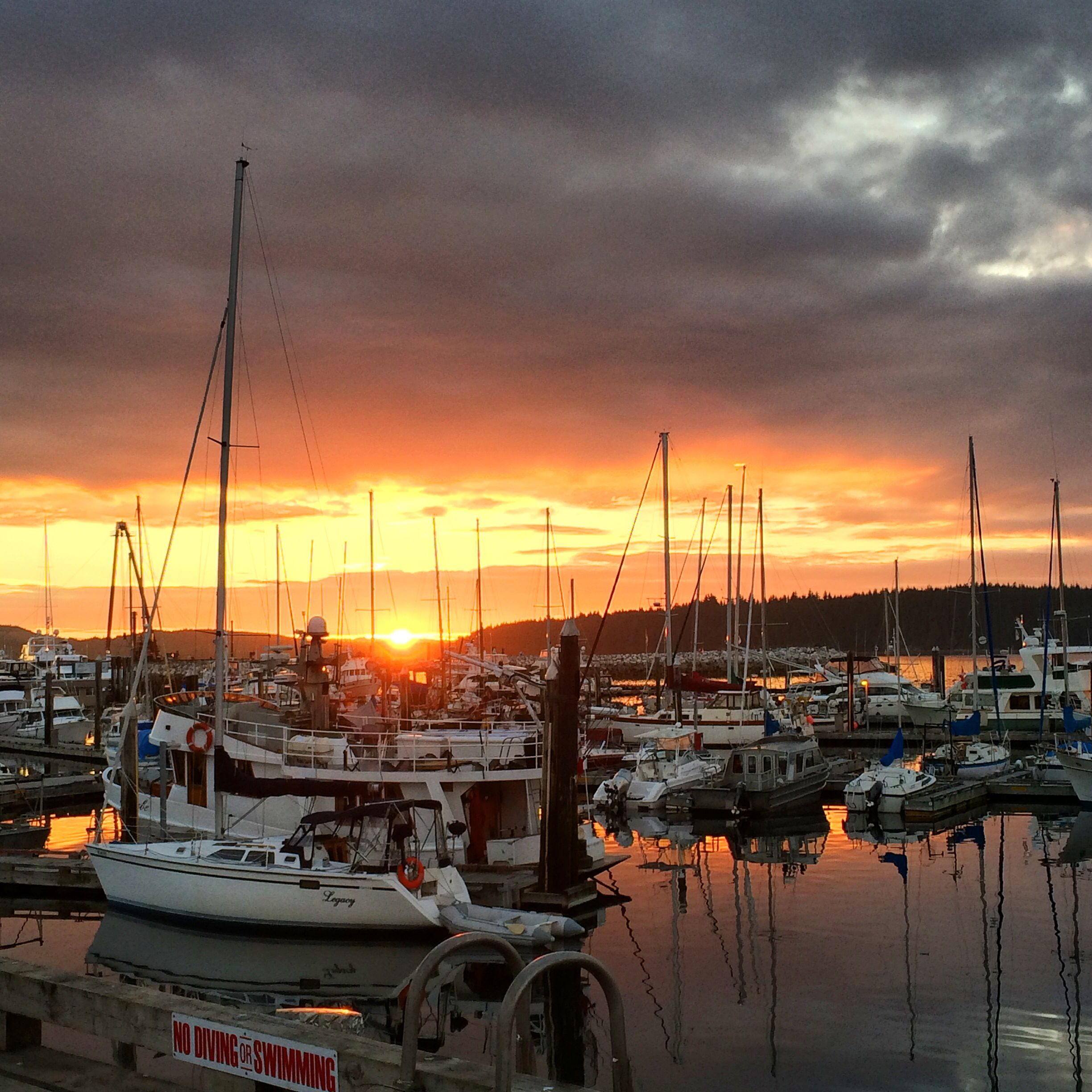 #PortMcNeill #Dock #Boats #BritishColumbia #Sunset #Beauty
